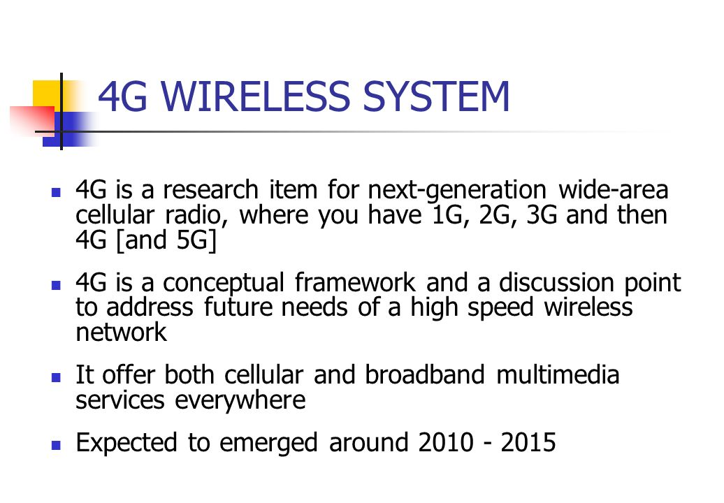 4g wireless system pdf 4 g technology pdf file  objective is tocreate a protocol suite and radio communication schemes to achieve broadbandmobilecommunication in 4g wireless systems .